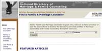 National Directory of Marriage & Family Counseling