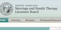 NC Marriage and Family Therapy Licensing Board